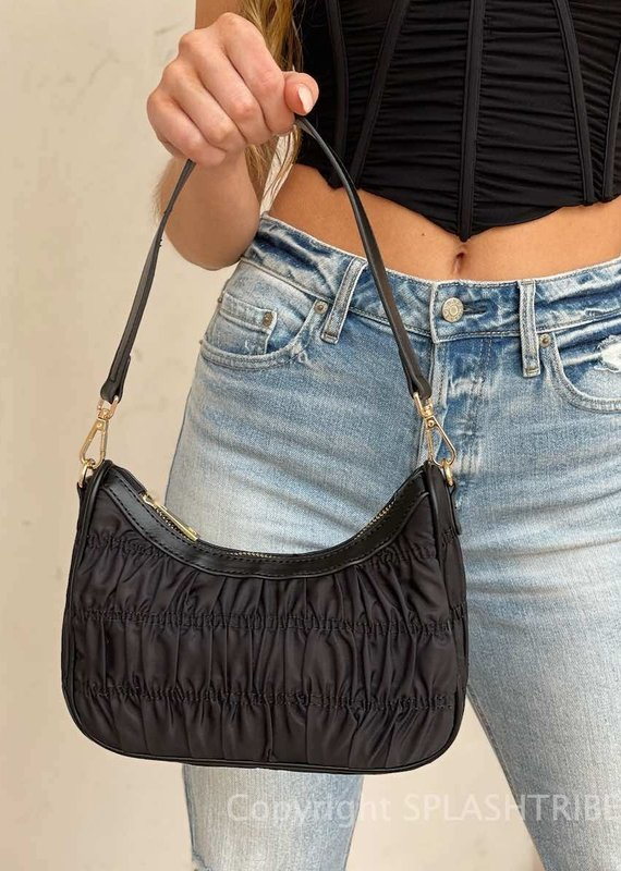 Billini Samson Shoulder Bag Black Nylon