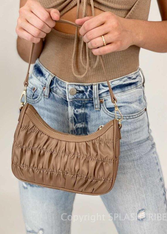 Billini Samson Shoulder Bag Taupe Nylon