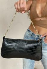 Billini Rose Shoulder Bag Black Croc