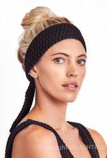Devon Windsor Headscarf Black Woven