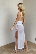 Crochet Lace Up Side Maxi Skirt
