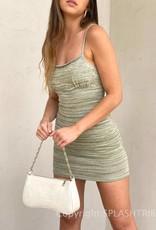 Metallic Knit Mini Dress