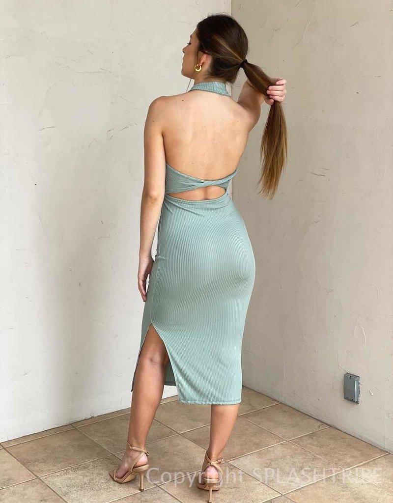 Palm Springs Halter Midi Dress