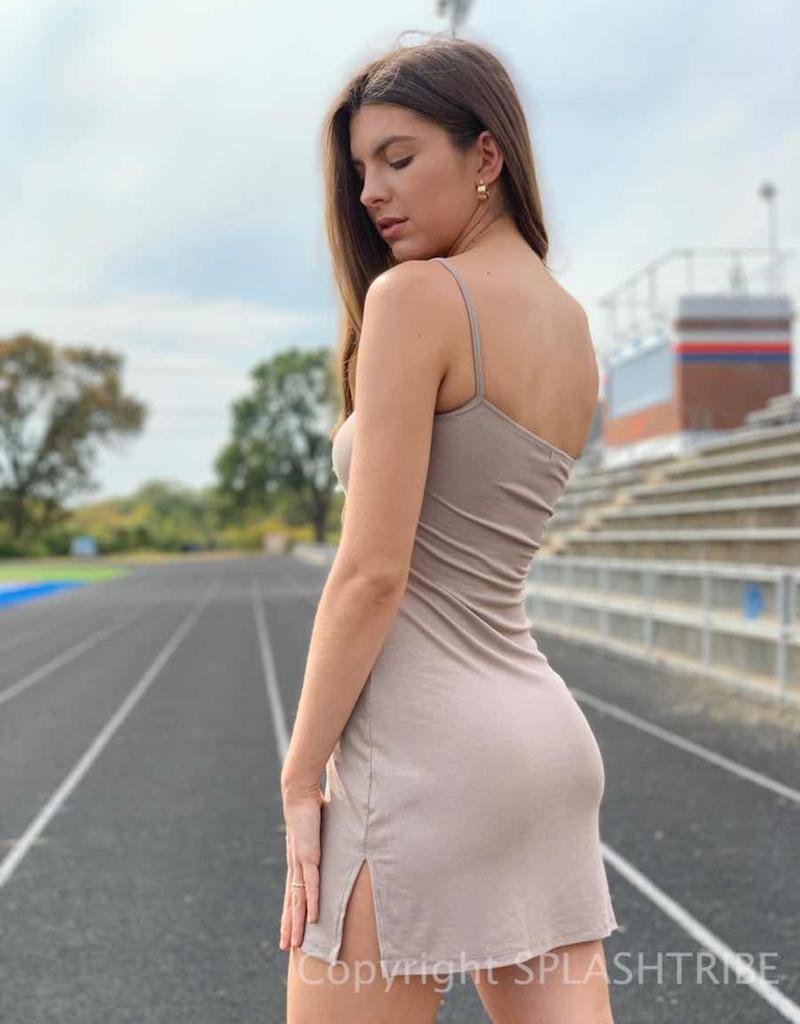 Joah Brown Single Strap Dress