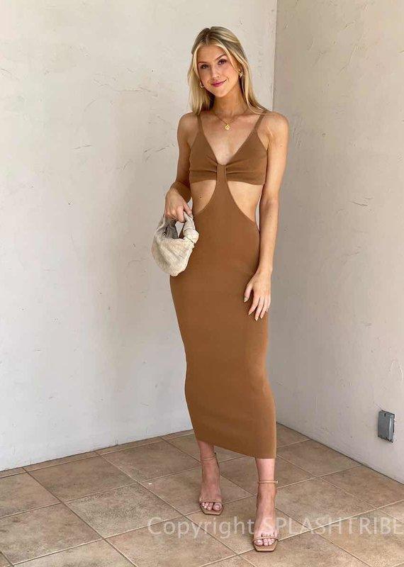 St. Barths Cut Out Midi Dress