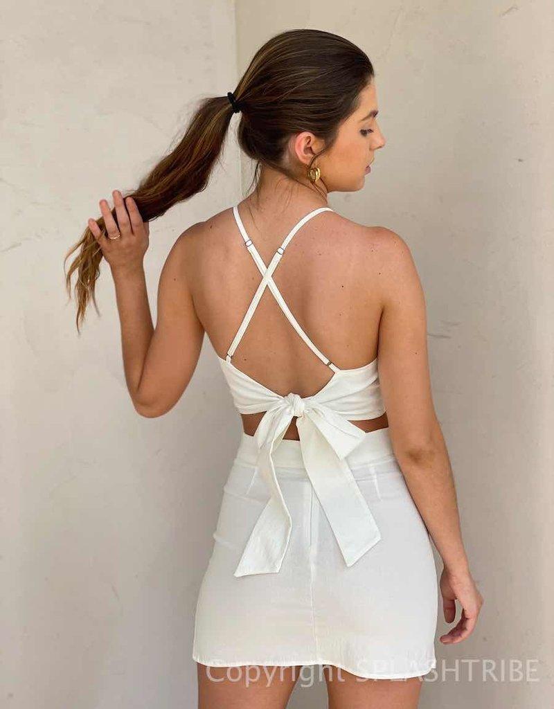 Tie Back Halter Crop Top & Skirt Set