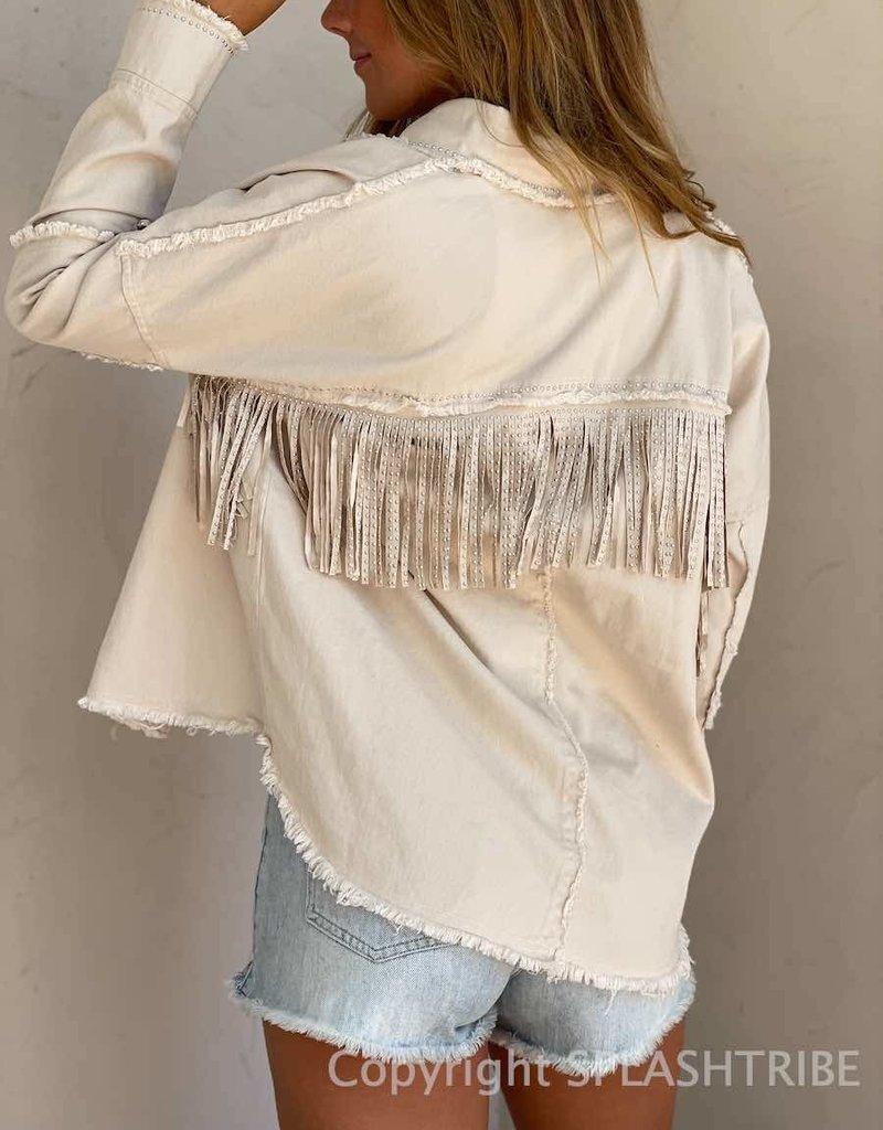 Nash Studded Fringe Jacket