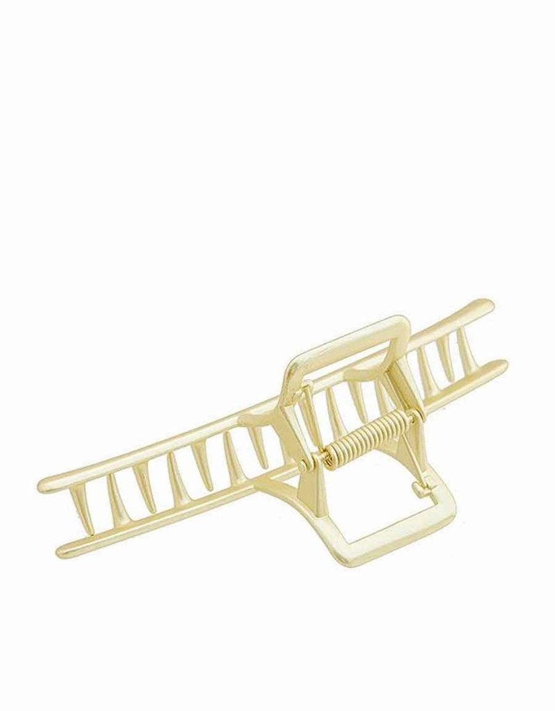 Gold Metal Claw Curved Hair Clip