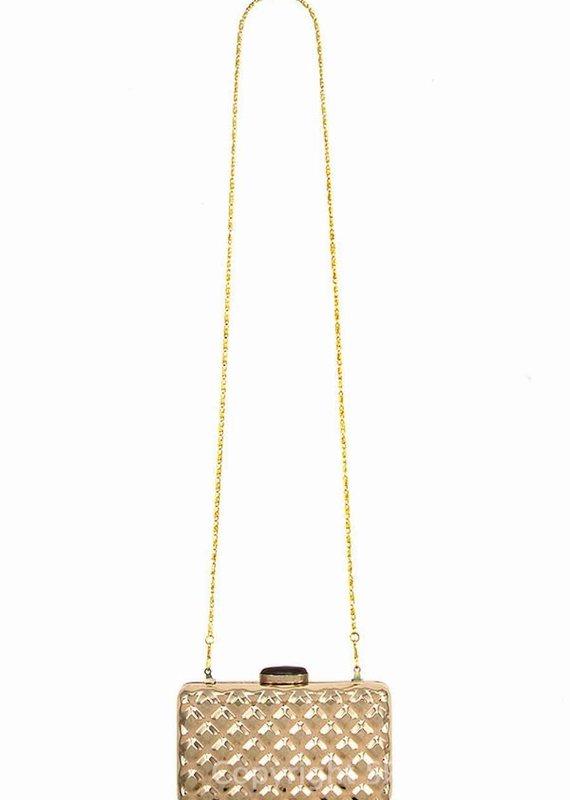 Hardcase Diamond Pattern Clutch Bag