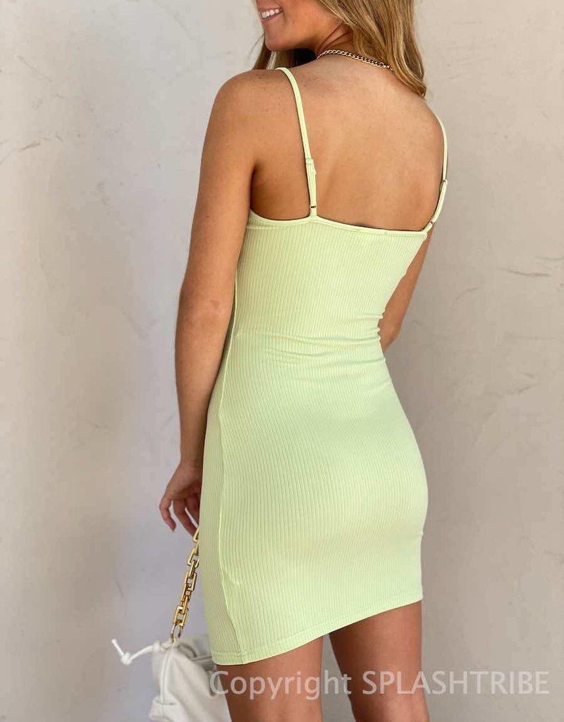 V Wire Ribbed Cami Bodycon Dress