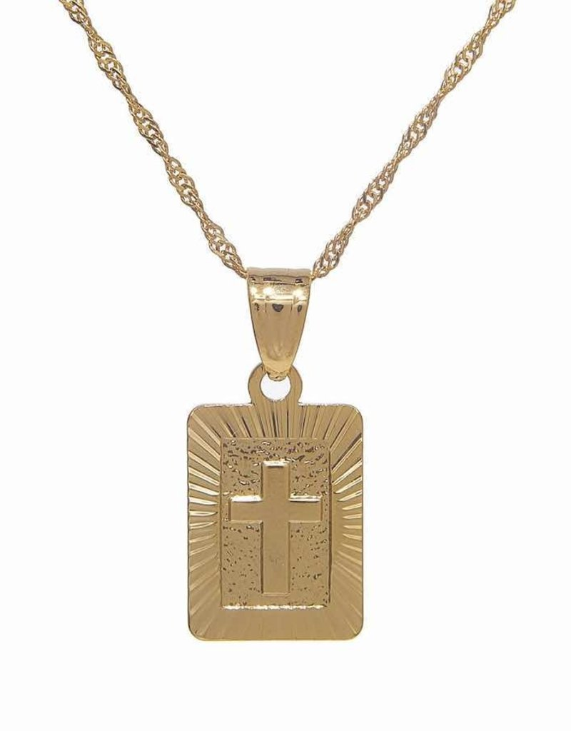 Cross Tag Necklace