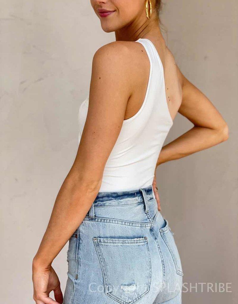 Cut Out One Shoulder Bodysuit
