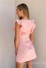 Summer Whisper Ruffle V Neck Dress