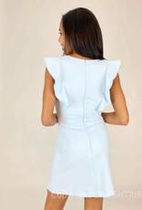 Whisper Ruffle V Neck Dress
