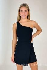 Whisper One Shoulder Envelope Skirt Dress
