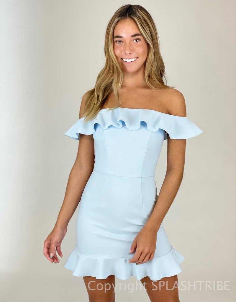 Whisper Light OTS Ruffle Bottom Dress