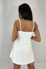 Whisper V Neck Bow Envelope Dress