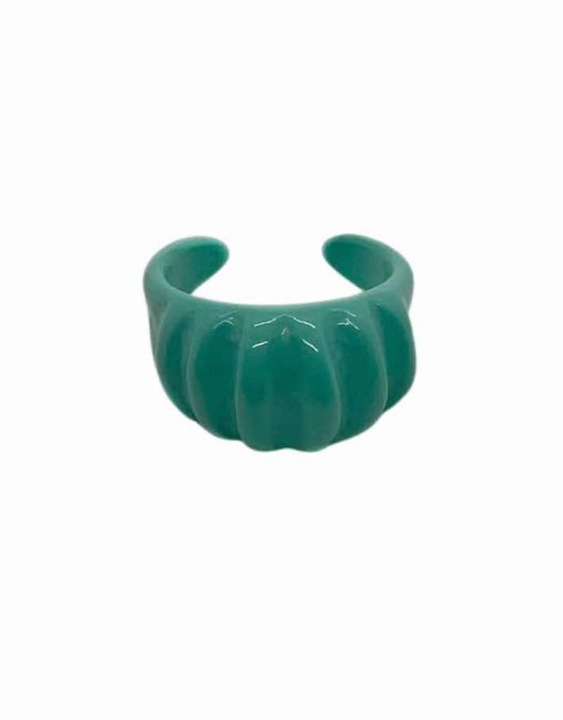 Turquoise Ribbed Ring