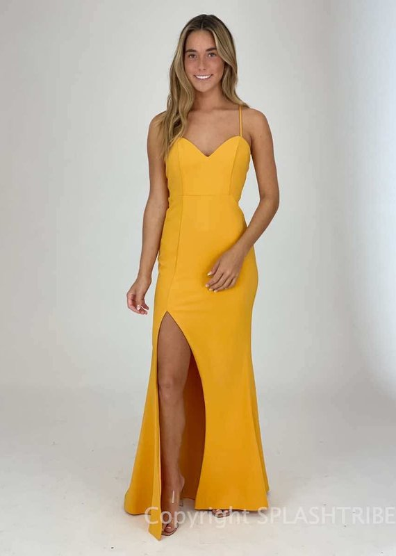 Cami Strap Front Slit Maxi Gown
