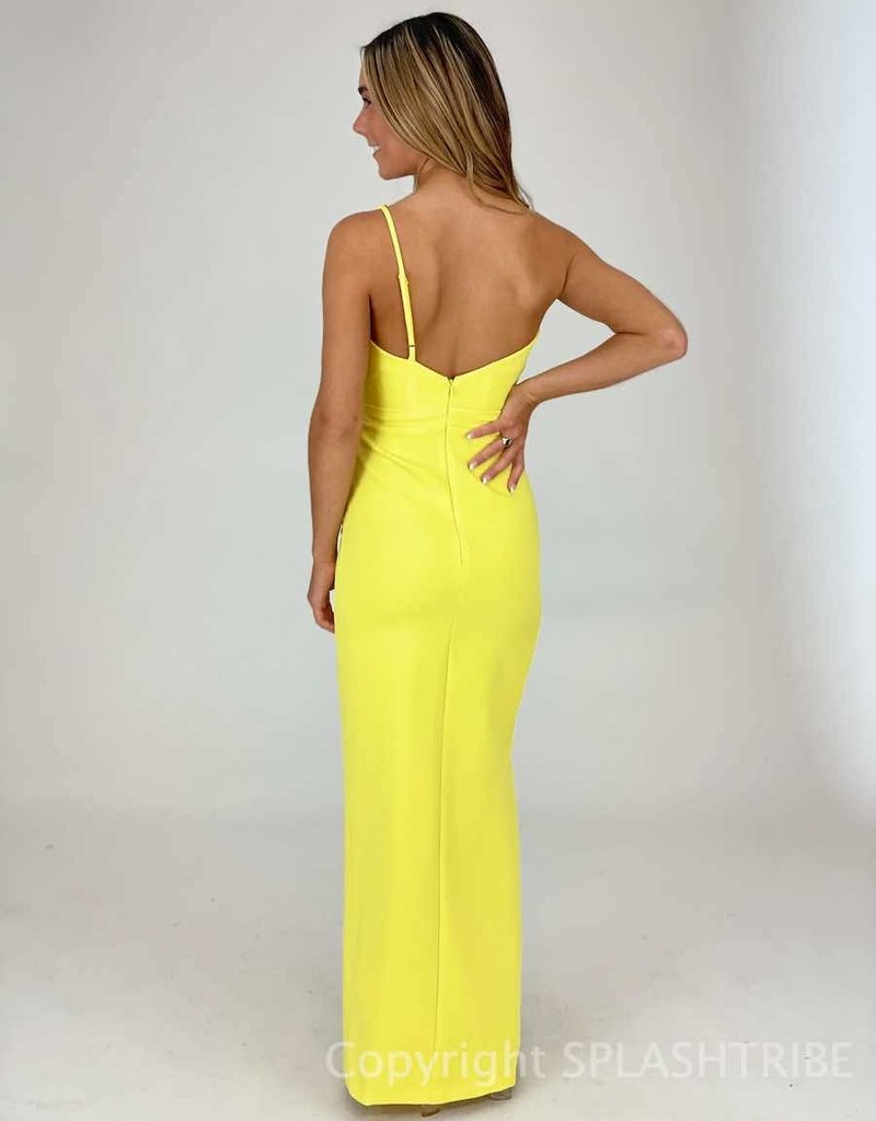 One Shoulder Draped Maxi Gown
