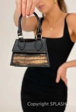 Kylie Mini Croc Bag Black