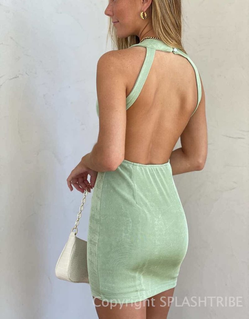 Shimmer Open Back Bodycon Dress