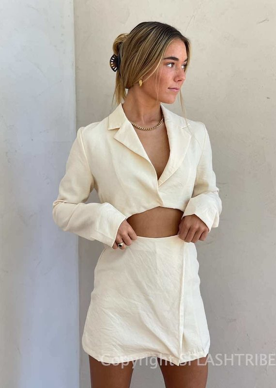 Crop Jacket Mini Dress