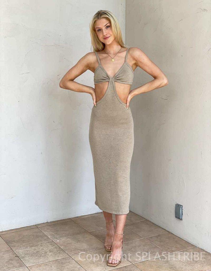 Summer Nights Cut Out Midi Dress