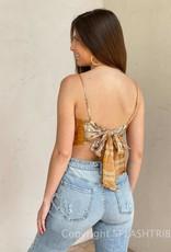 Paisley Tie Back Scarf Crop Top
