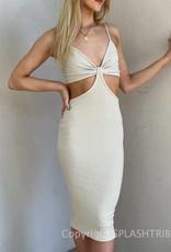 LA Nights Cut Out Midi Dress
