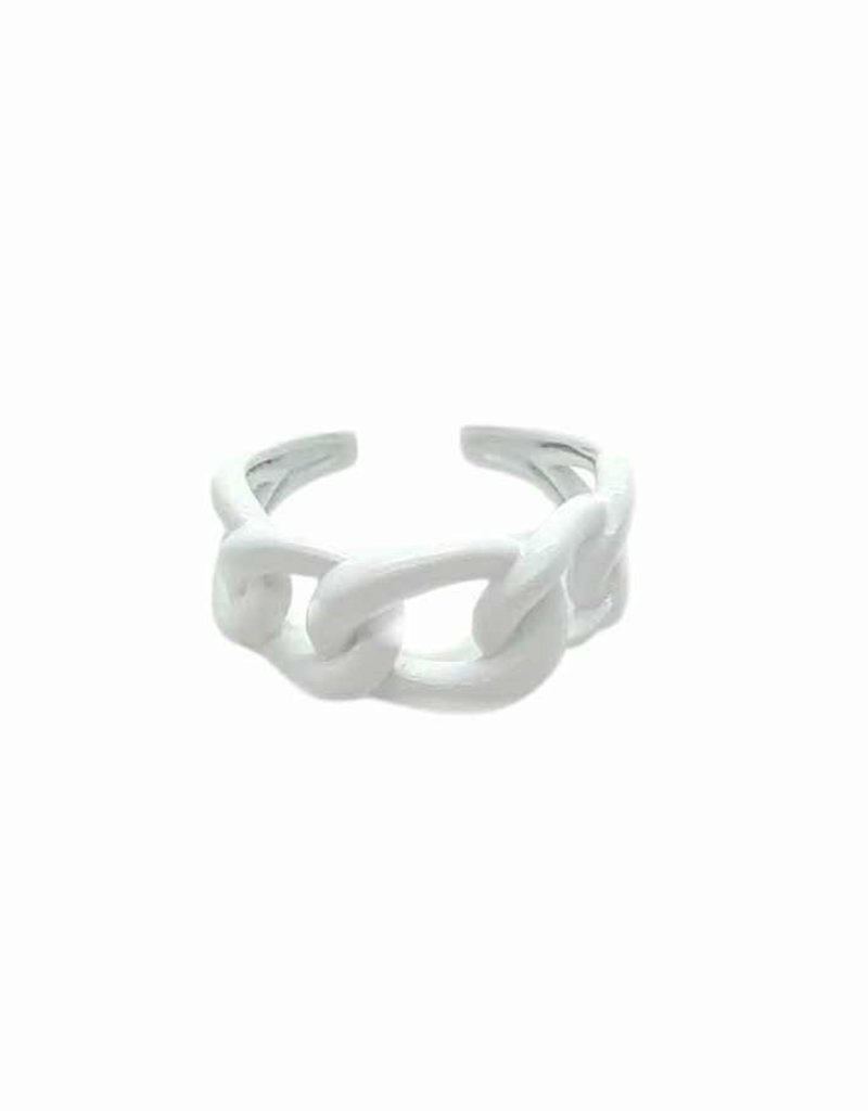 White Link Ring