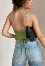 Green With Envy Wrap Crop Top