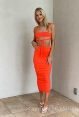 Miami Nights Crop Top Skirt Set