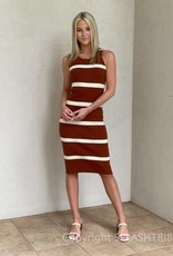 Topanga Striped Midi Dress