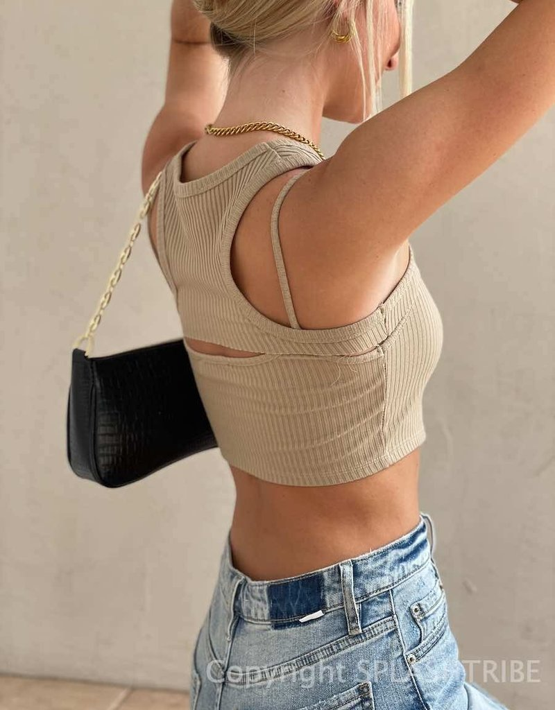 Ribbed Two Piece Cropped Tank Set