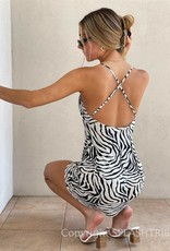 Safari Cowl Neck Mini Dress