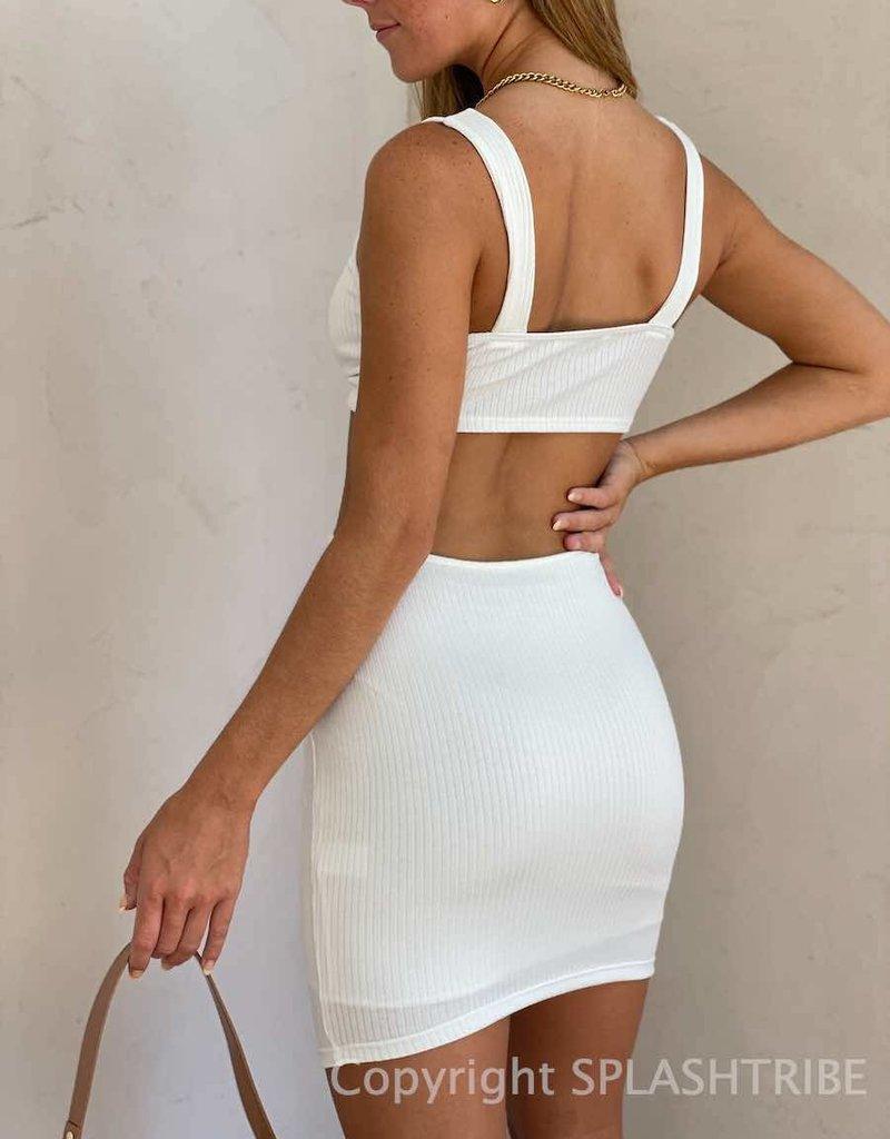 Kendall Rib Cut Out Mini Dress