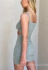 Cut Out Knit Tank Dress