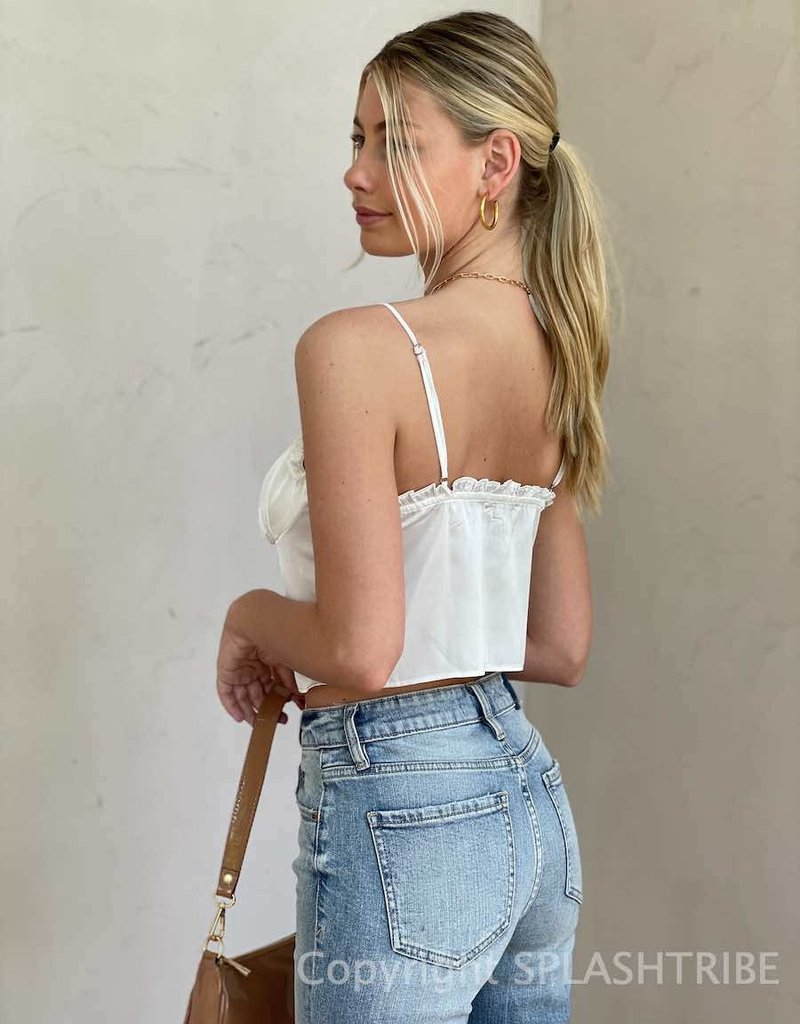 Hopeless Romantic Lace Up Crop Top