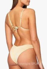 We Wore What Cowl Neck Glitter Bikini Top