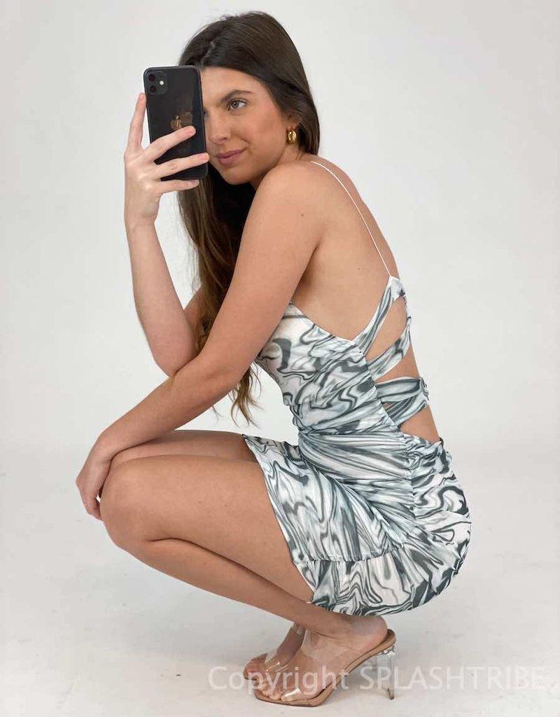 Feeling Groovy Mesh Mini Dress