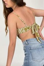 Painted Desert Paisley Tie Back Scarf Top