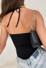 Square Neck Cinched Halter Top