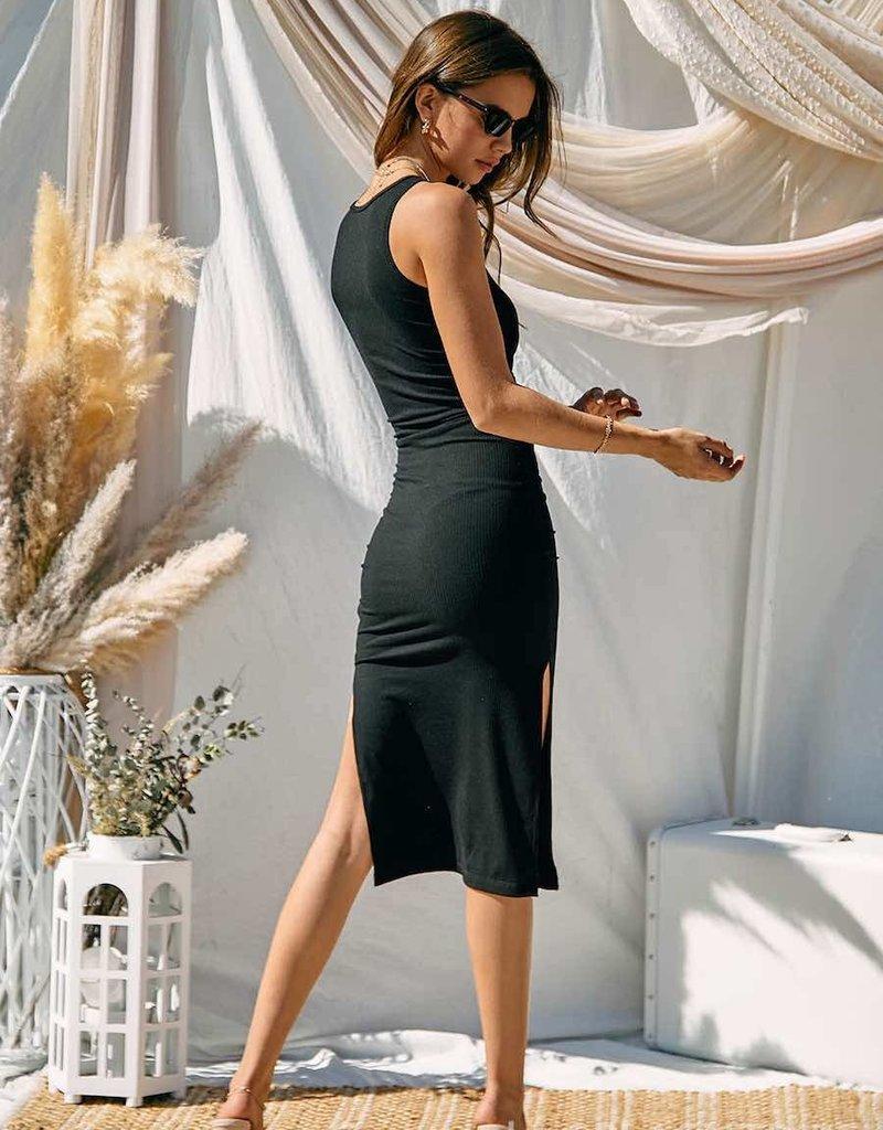 Make Moves Cut Out Midi Dress