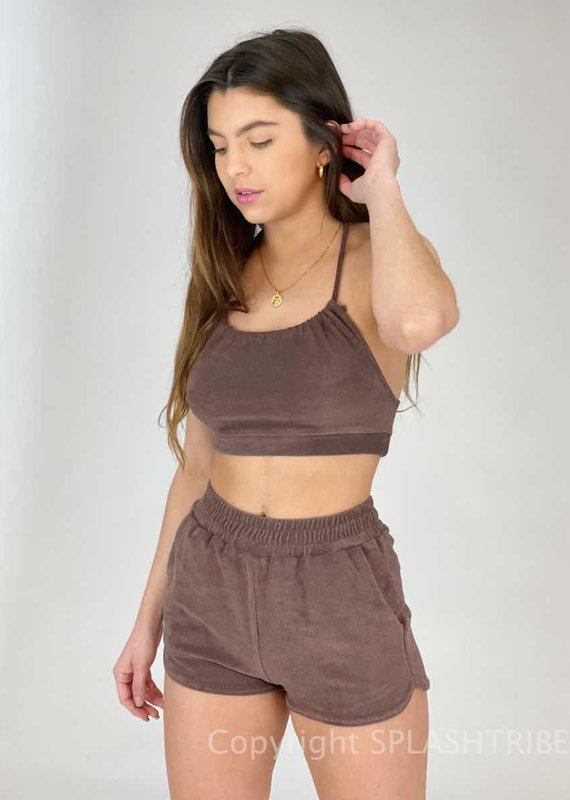 Terry Halter Top and Short Set