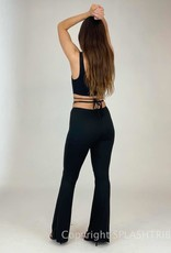 Ruched Front Wrap Tie Pant