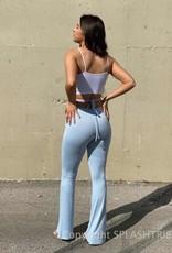 Ruched Front Wrap Tie Pants - P-153282
