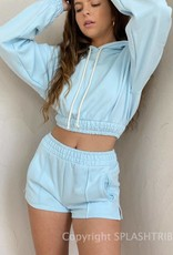 Smocked French Terry Short