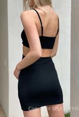 Hailey Baby Rib Open Side Mini Dress