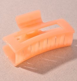 Pastel Bright Claw Clip Orange